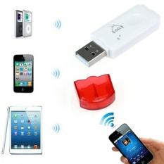 Merah USB Nirkabel Bluetooth Audio Musik Adaptor Penerima untuk iPhone 4 5-Intl