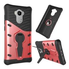 Redmi 4 Case Kickstand Fitur Putar Stand Holder Pelindung Shell Hybrid Bumper Armor Karet Shockproof Case Cover untuk Xiaomi Redmi 4-Intl