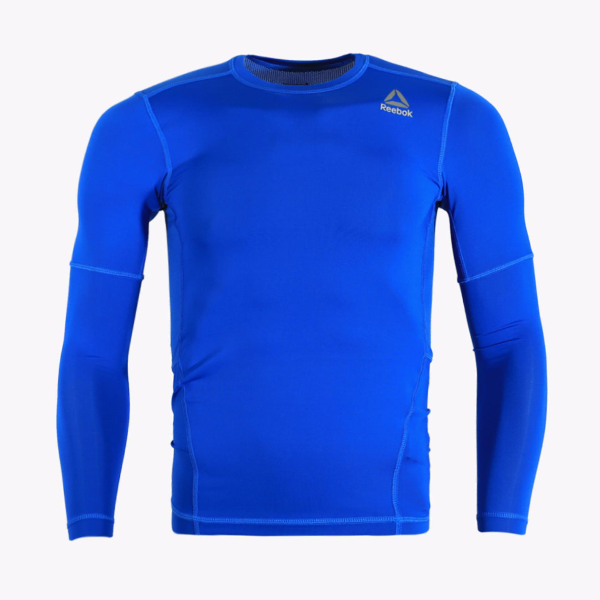 Jual Reebok Com Men S Long Sleeve Tee Biru Reebok Grosir