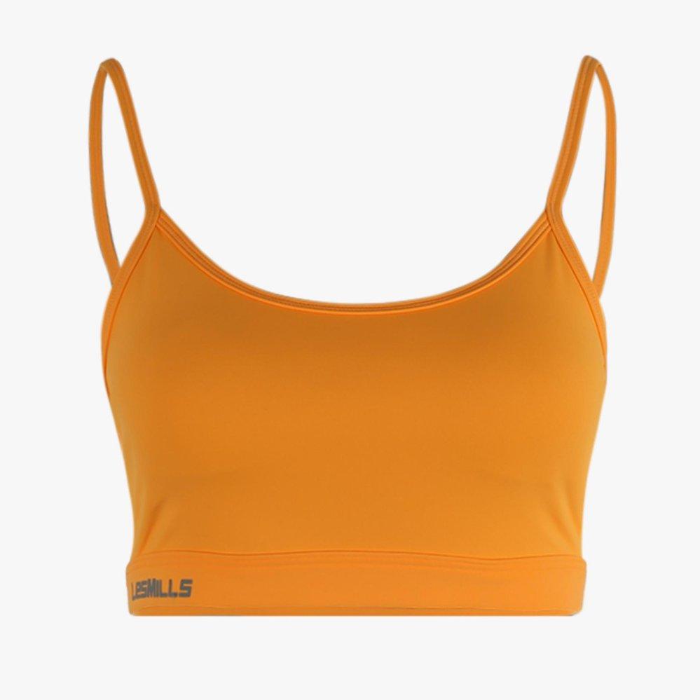 Spesifikasi Reebok Les Mills Rebel Padded Sport Bra Oranye Murah Berkualitas