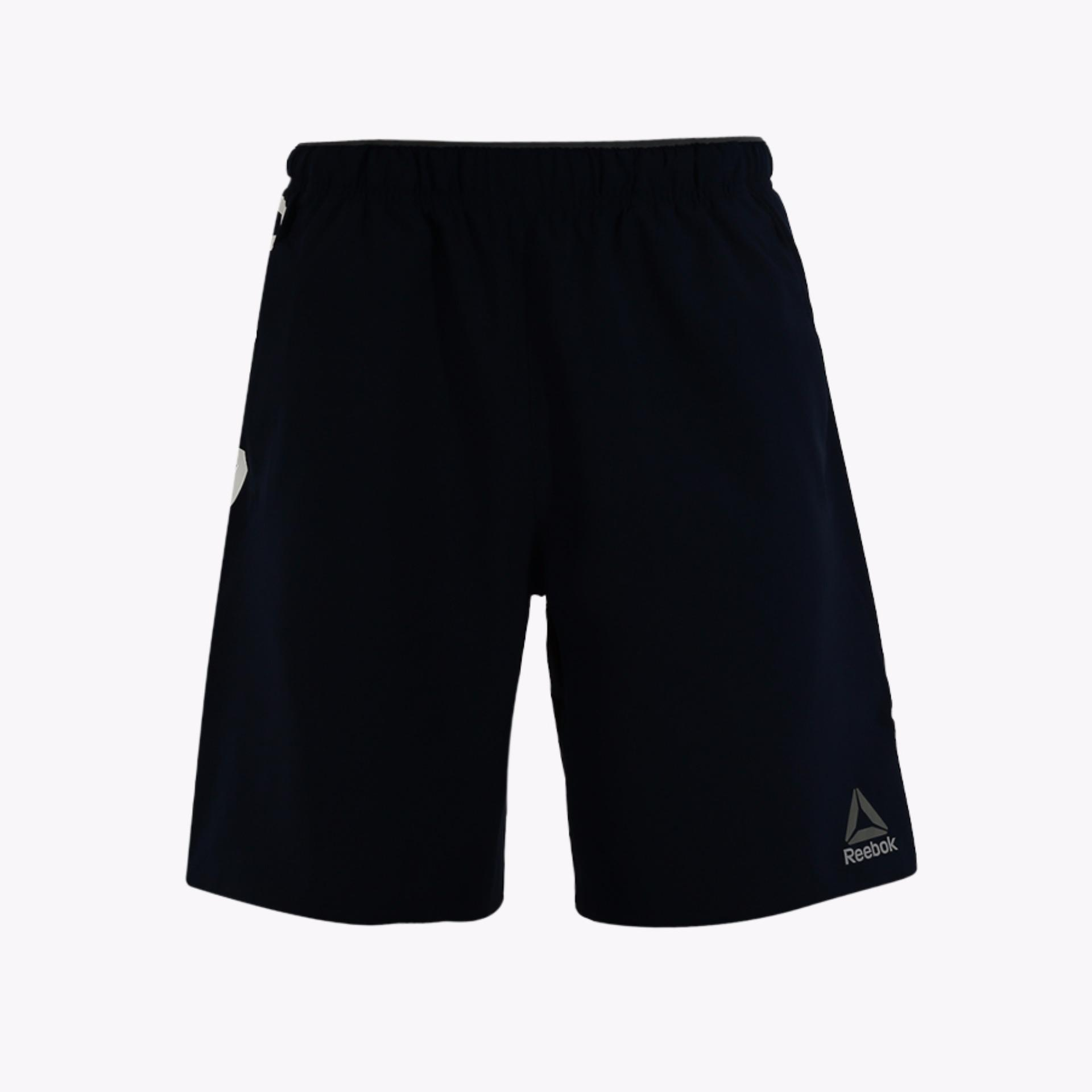 Review Terbaik Reebok Workout Ready Woven Graphic Men S Shorts Navy