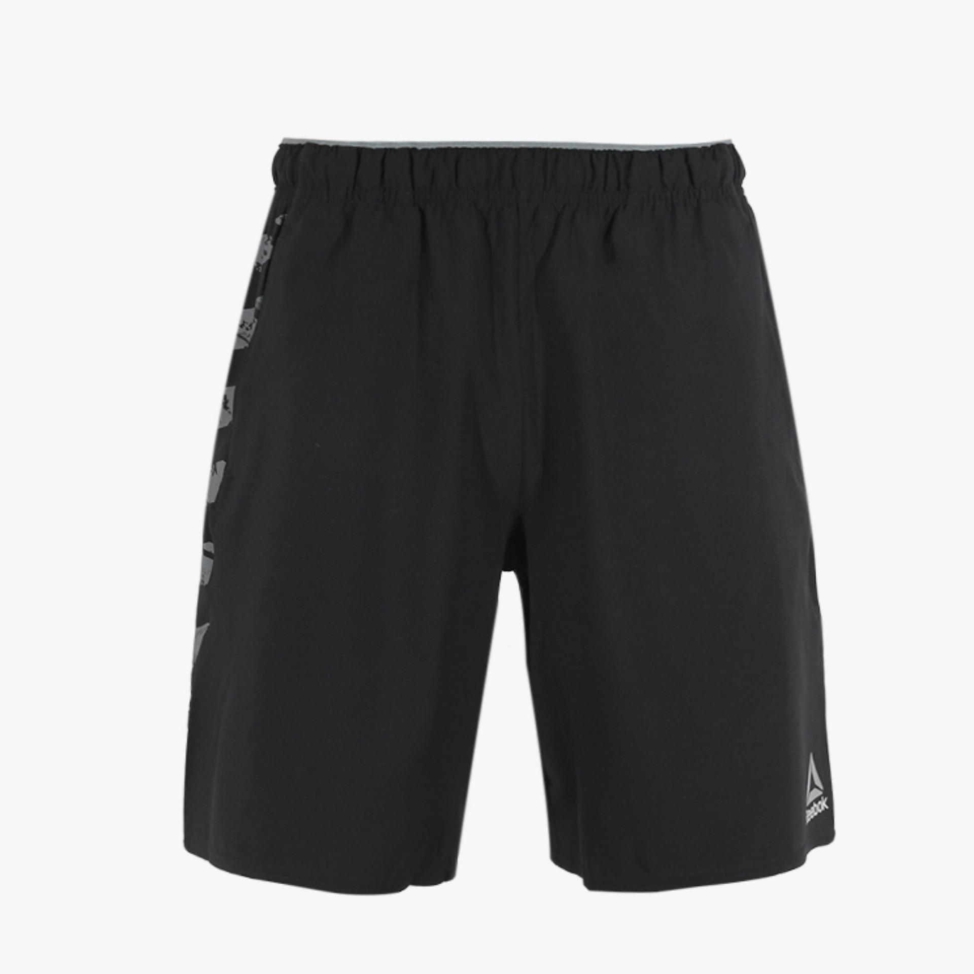 Jual Reebok Workout Ready Woven Men S Shorts Hitam Original