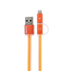 Toko Remax Aurora Cable 2 In 1 Apple Lightning Dan Micro Usb Kabel Data Orange Termurah