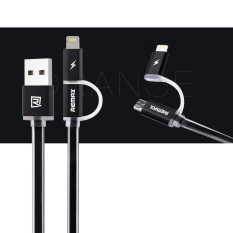 Jual Remax Aurora Micro Usb Dan Lightning 8 Pin Data Pengisian Kabel Dengan Indikator Led Hitam Online Tiongkok