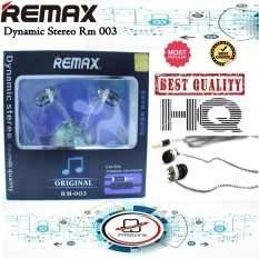 REMAX Dynamic Stereo Bass Handsfree Headphone Headset Earphone - RM 003