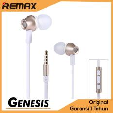 Toko Remax Earphone In Ear Headset Premium Sound For Iphone And Android With Microphone Rm 610D Gold Terlengkap Indonesia