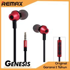 Jual Remax Earphone In Ear Headset Premium Sound For Iphone And Android With Microphone Rm 610D Red Satu Set