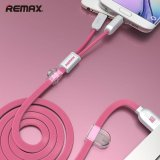 Harga Remax For Ios Android Phone 2 1A 1M Dual Heads Ios Micro Usb Mobile Phone Data Fast Charge Cable Intl Yang Murah