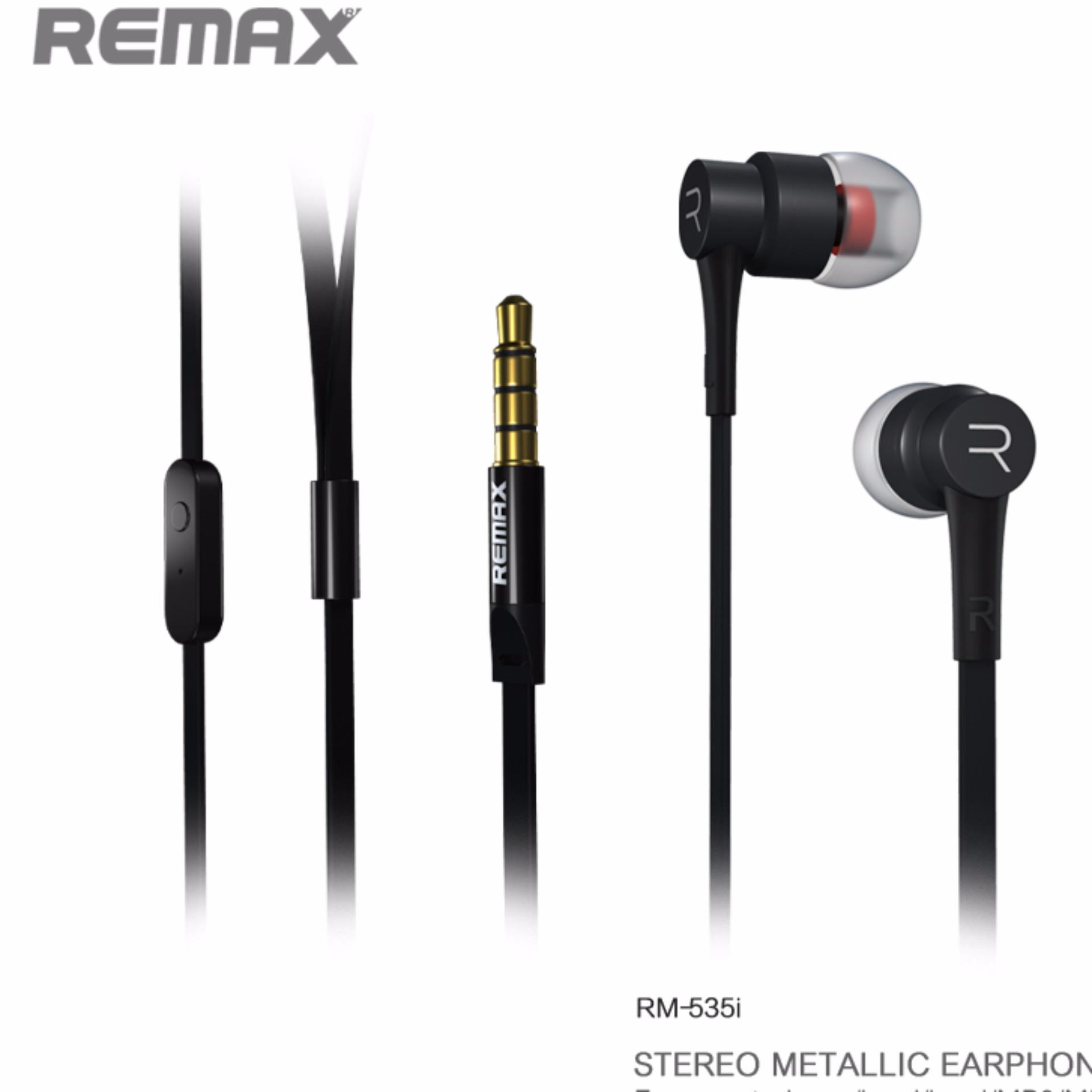 Remax Headset Rm 535 Noise Isolation With Mic Hands Free Hitam Original