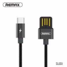 Remax Logam Jaket Musim Semi Kabel Data Tipe C Sisi Ganda Usb Cepat Pengisian Kabel Usb C 2.1A Pengisi Daya Kabel untuk Tipe C Macbook/OnePlus/Xiao Mi 4C-Internasional