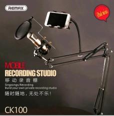 Remax Microphone Stand Mic Meja Rekaman + Smartphone Stand - CK100