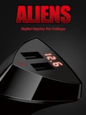 Remax Asli Cepat Pengisian USB 4 2 Perlindungan Keselamatan Mobil Charger With LED Display With Khusus Promosi