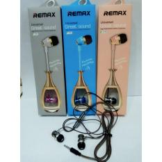 Remax Original V-711 Handsfree Hf Headset Mega Bass Universal 3,5 mm for Oppo Iphone Samsung Vivo Xiomi Lenovo Asus Advan Evercross Blackberry Acer Orioss Foto Asli