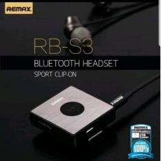 Remax Rb S3 Clip On Earphone Bluetooth Hitam Remax Diskon 30