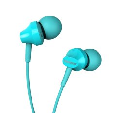 Remax RM 501 Earphone Universal Smartphone Stereo Sound Headphone - Hijau