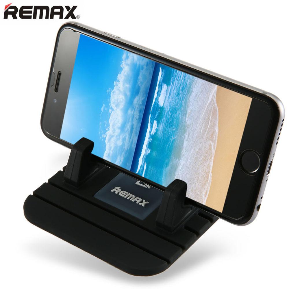 Beli Remax Telepon Mobil Anti Slip Tikar Lembut Silikon Golongan Pemilik Stan Mount Hitam Online Murah