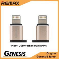 Remax Visual OTG Adapter Micro USB To Apple iPhone Lightning 8 pin Adaptor Konverter Gold
