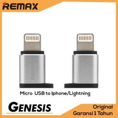 Remax Visual OTG Adapter Micro USB To Apple iPhone Lightning 8 pin Adaptor Konverter Silver