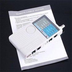 Remote RJ11 RJ45 USB BNC LAN Jaringan Telepon Kabel Tester Meter