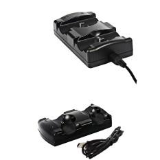Ganti Kabel 2in1 Ganda Pengisi Daya Pengisian Dock Station Penyangga untuk PS3 Pengendali-Internasional