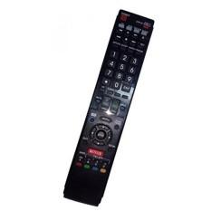Diganti Remote Control Kompatibel untuk Sharp LC-60C7450 RRMCGA935WJSA LC52C6400U LC40LE830U LC40LE810UN LC52LE920 LC52LE925UN AQUOS LED LCD HD TV dengan NETFLIX 3D Tombol-Internasional