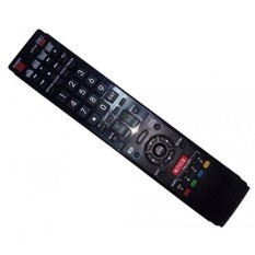 Replaced Remote Control Compatible for Sharp LC-60LE657U GA936WJSA LC-60C6400U LC46LE830U LC52LE810 LC-52LE920U LC-42LE540U AQUOS LED LCD HD TV with NETFLIX 3D Button - intl