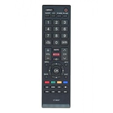 Replacement CT-8037 Remote Control for Toshiba LCD LED TV Models 40L3400, 40L3400U, 40L3400UC, 50L3400, 50L3400U, 50L3400UC, 58L5400U, 65L5400U, 58L5400, 58L5400UC, 65L5400, 65L5400UC