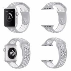 Penggantian untuk Apple Jam Tangan Nike Tali 38 Mm, lembut Silikon Nike + Gaya IWatch Tali Tali Bagian Manset Lengan Kemeja untuk Apple Jam Tangan Seri 1 dan Seri 2