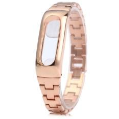Replacement For Xiaomi Mi Band 2 Strap Stainless Steel Watchband For Xiaomi Mi Band 2 Wearable Accessories Wrist Belt For Miband 2 Strap Rosegold Oem Diskon 30