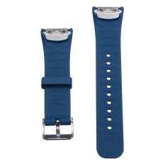 Penggantian Silikon Gelang Tali Jam untuk Samsung Gear Fit 2 SM-R360 Dark Blue
