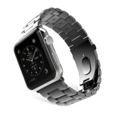 Replacement Stainless Steel Band Strap Bracelet For Apple Watch 42Mm Black Intl Tiongkok