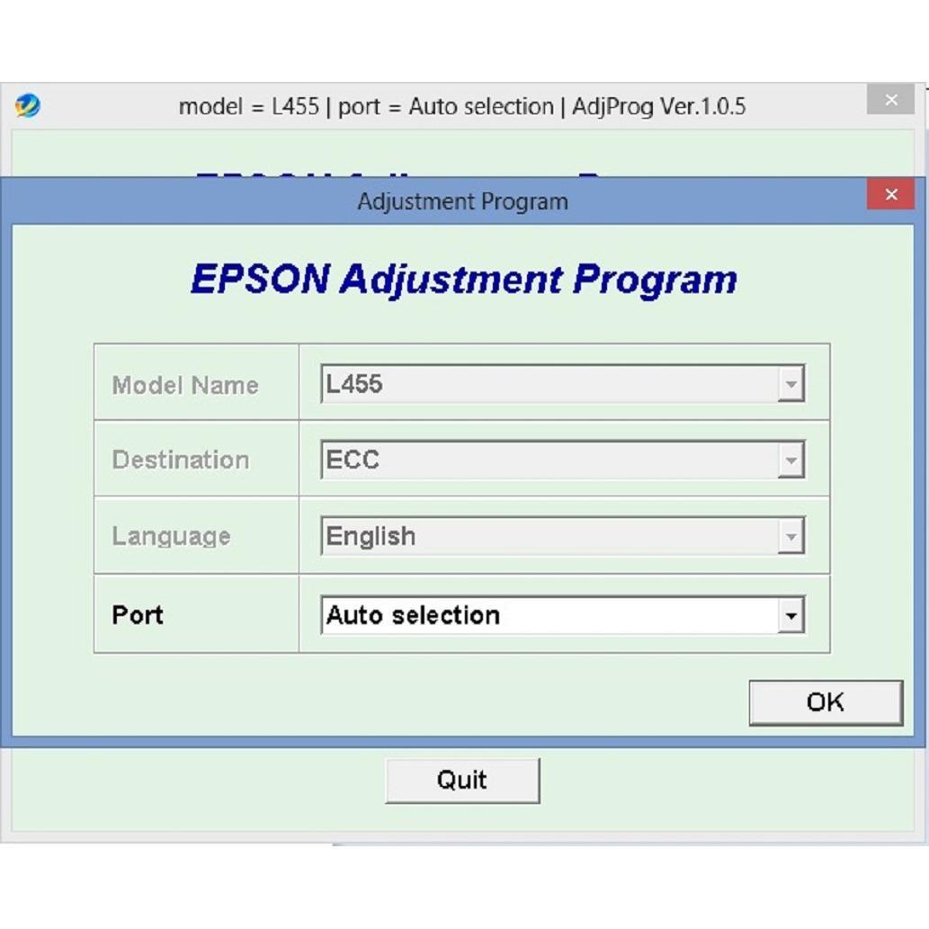 Resetter Epson L455 Original