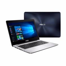 RESMI ASUS A456UR - CORE I5 7200u 2,5GHZ - RAM 4GB - HDD 1TB - NVIDIA GT 930MX 2GB - NO OS - 14