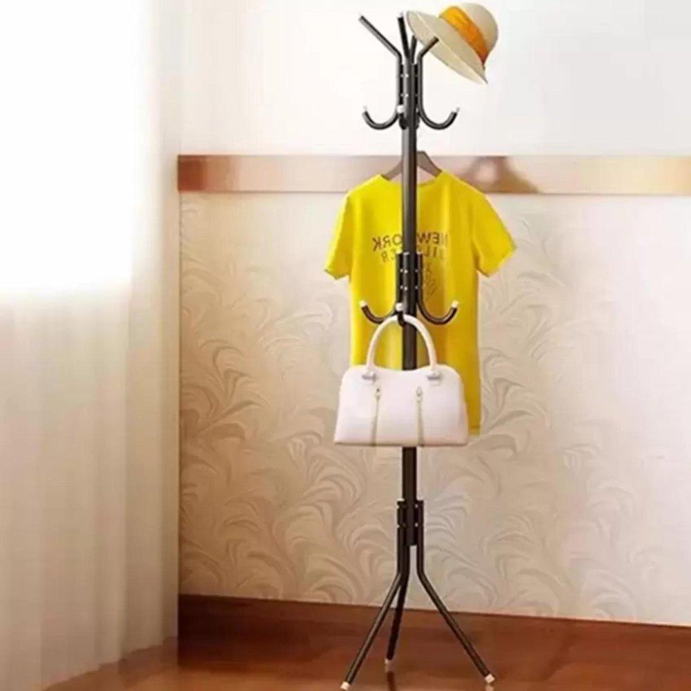 Spesifikasi Retail Station Gantungan Baju Standing Hanger Multifunction Stand Hanger Hitam Lengkap Dengan Harga