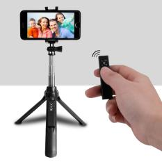 Retractable Lengan 270˚ Berputar Selfie Tiang Bluetooth Remote Shutter Self-timer Monopod Mini Tripod untuk Smartphone Cellphone Sport Motion Kamera