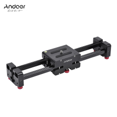 Andoer FT-40 Retractable Kamera Video Slider Dolly Track Rail Stabilizer 40 Cm Panjang 80 Cm Jarak Sliding The Truth Paduan Aluminium Yang