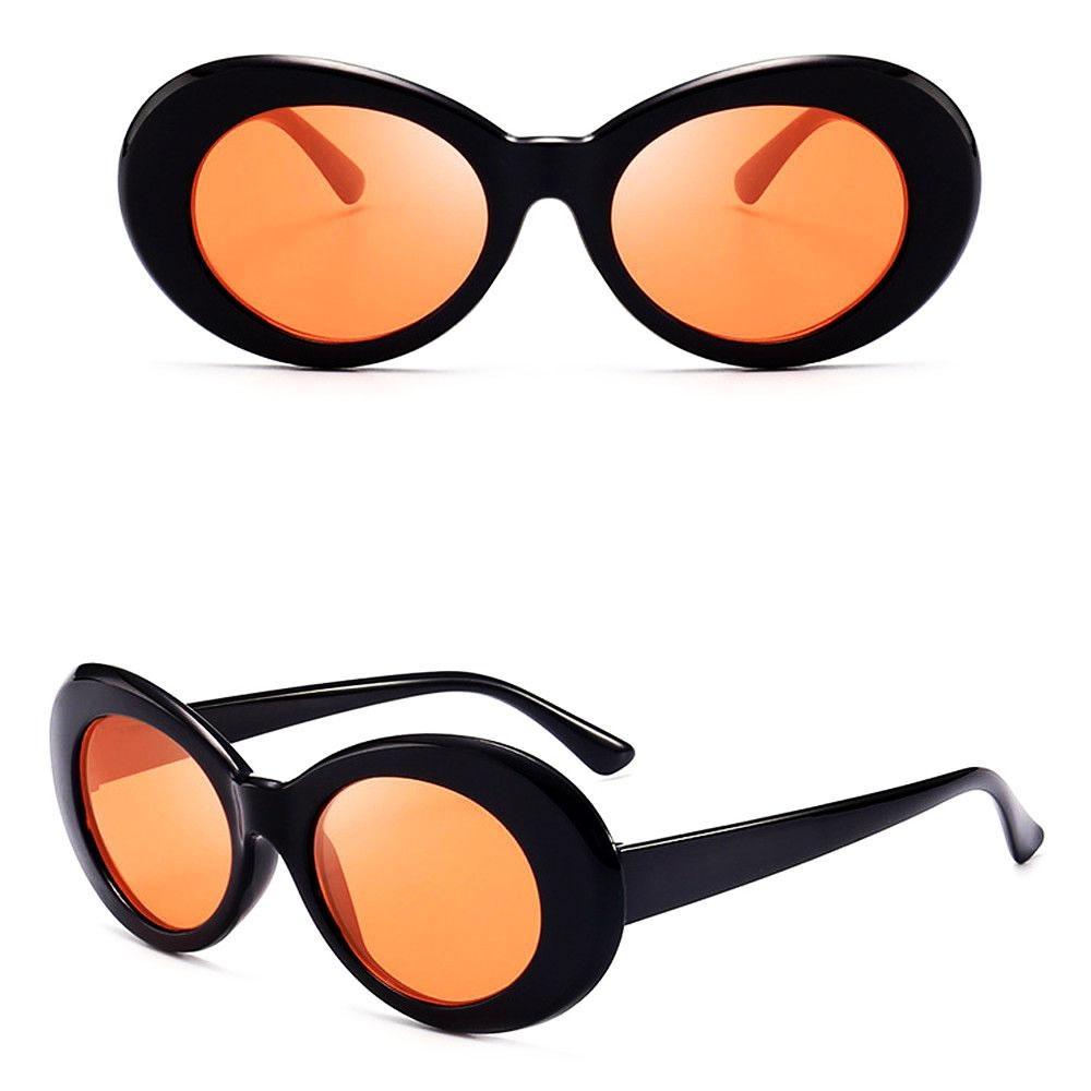 Spek Retro Cermin Oval Kacamata Unisex Uv400 Sunglasses Kurt Cobain Nirvana Intl Oem