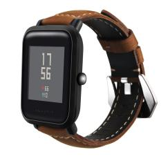 Harga Retro Crazy Horse Kulit Asli Band Strap Untuk Huami Amazfit Bip Bit Pace Lite Youth Smart Watch Asli