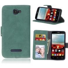 Retro Frosted PU Kulit Flip Case untuk Alcatel One Touch Fierce 2 7040 T (Tidak Sesuai Fierce XL) (hijau)-Intl