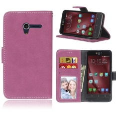 Retro Frosted PU Kulit Flip Case untuk Alcatel One Touch POP 3 [5.0 Inch] (Rose) -Intl