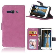 Retro Frosted PU Kulit Flip Case untuk Alcatel One Touch POP C9 (Rose)-Intl