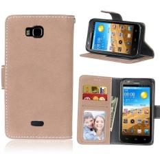 Retro Frosted PU Kulit Flip Case untuk Huawei Honor Bee/Y541 (Beige)-Intl