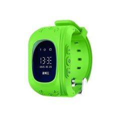 Retro Q50 (Malaysia OLED Versi) Jam Tangan Pintar Gpsanti-Lostkid Tracker dukungan Kartu SIM Lokal & GPS Fungsi (Green)-Intl