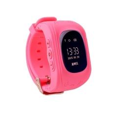 Retro Q50 (Malaysia OLED Versi) Jam Tangan Pintar Gpsanti-Lostkid Tracker. Dukungan Kartu SIM Lokal & Fungsi GPS (Rose)-Intl