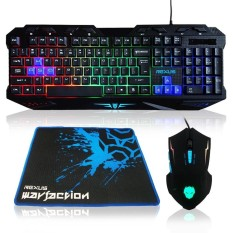 Rexus Gaming Combo Keyboard Mouse - Warfaction VR1 With MousePad