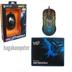 Diskon Rexus Gt3 Gaming Mouse 4D Usb With Rainbow Led Mousepad Gaming Hitam Rexus