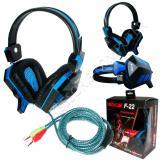 Rexus Headset Gaming F 22 With Mic Biru Diskon Akhir Tahun