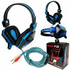 Rexus Headset Gaming F 22 With Mic Biru Promo Beli 1 Gratis 1