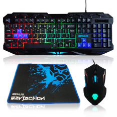 Rexus Keyboard Mouse Combo + Mousepad Gaming Vr1 Warfaction Backlight - Hitam By Full Aksesoris Komputer.