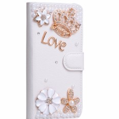Rhinestone Style Flip PU Leather for Lenovo K8 Note 5.5 inch Phone Cover Cases for Lenovo K8 Note Case - intl